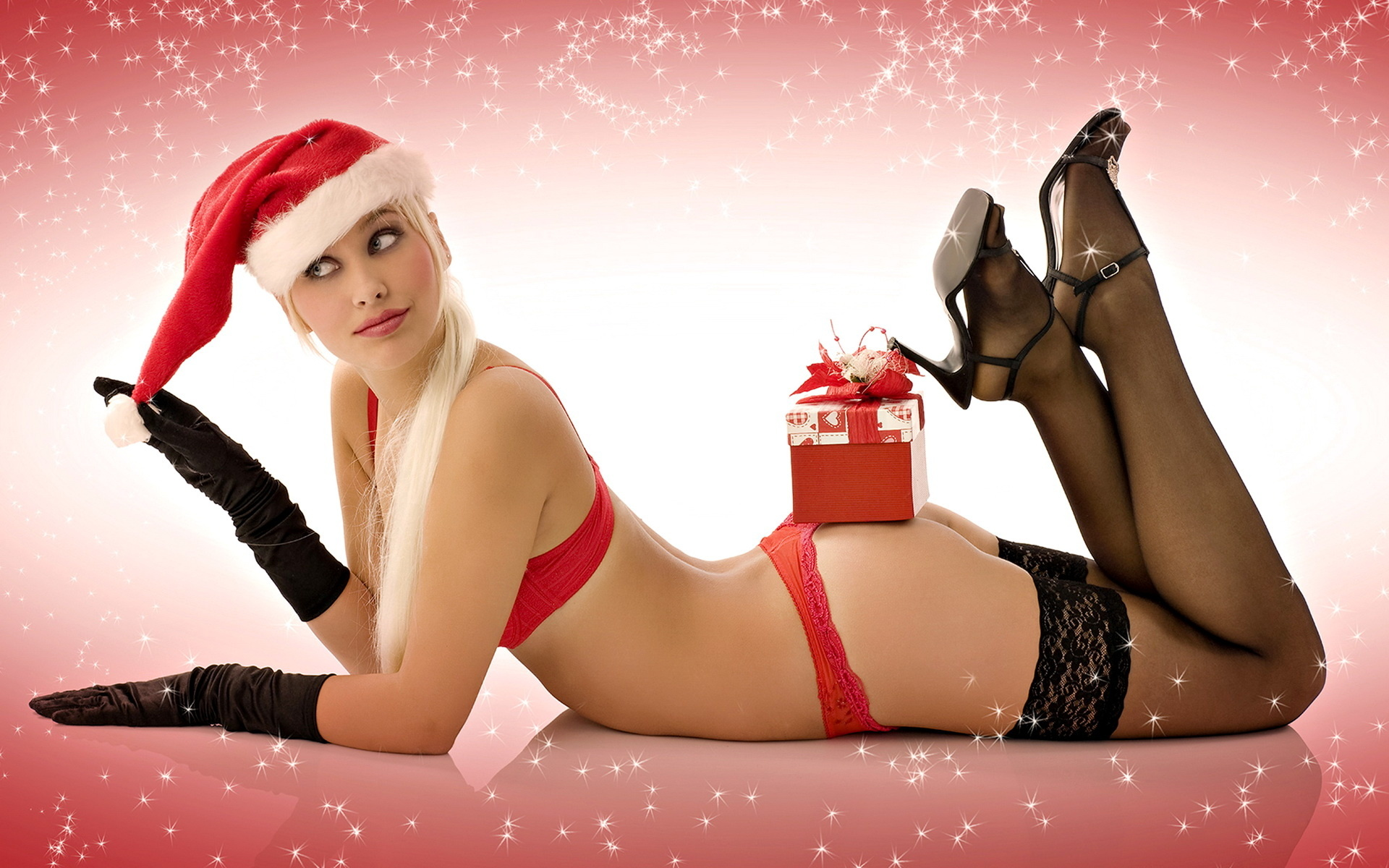Sexy women in christmas stockings — photo 11