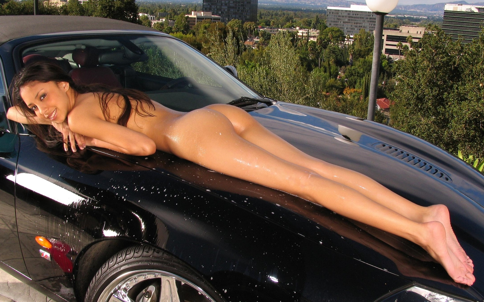 Nude car import girls, keisha knight pulliam in thong in the nude